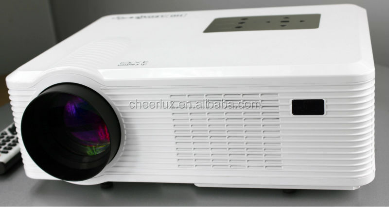 260 Inch Big Screen 16:9 4:3 Switch Freely Connect Computer PC 2400 Lumen Led Projector