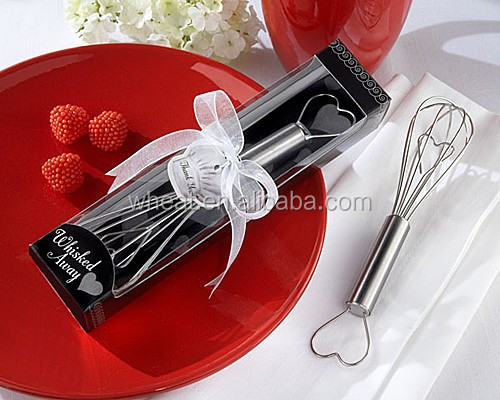 Wedding Favors Egg Beater/Whisked Away Heart Whisk