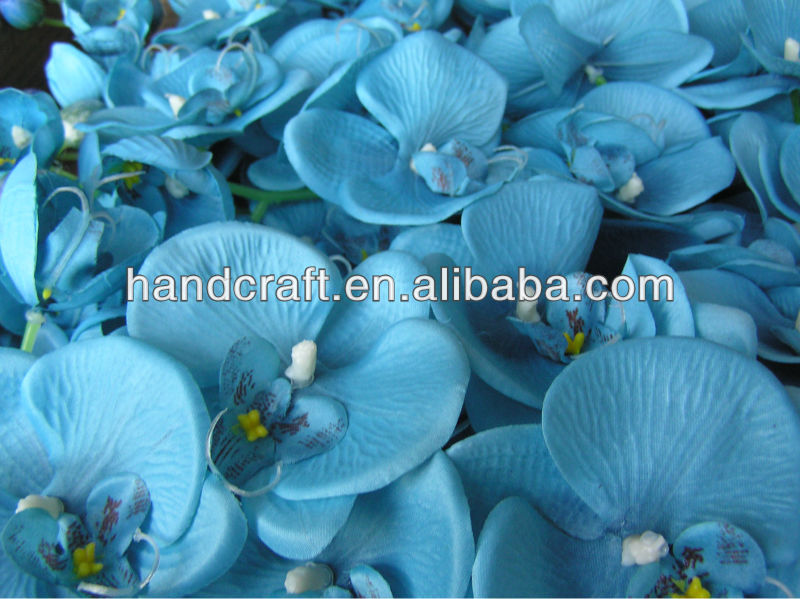 Wholesale artificial flowers silk blue orchid long stem for wedding wholesale artificial flowers silk blue orchid long stem for wedding decoration buy light up artificial flowersartificial flowers for funeral wreaths mightylinksfo