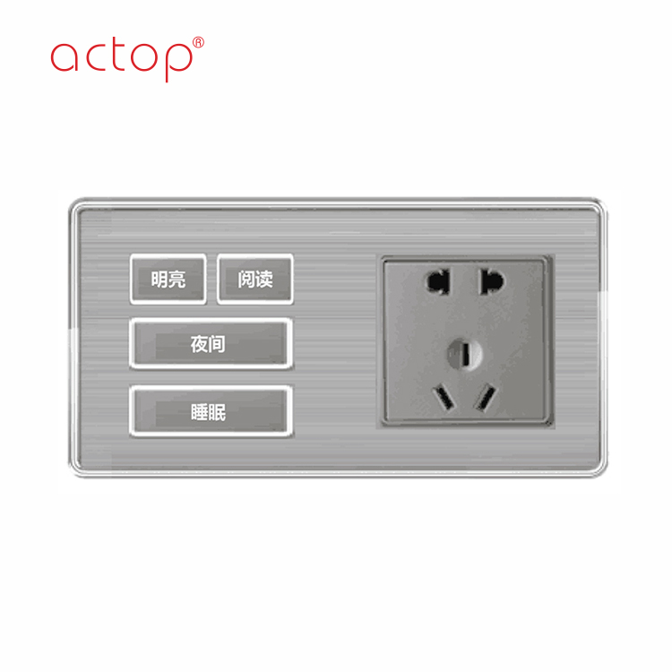 ACTOP fashion design light wall switch and socket