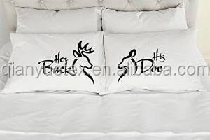 Personalized Wedding Decoration Pillow Case Souvenirs Two Pillowcase