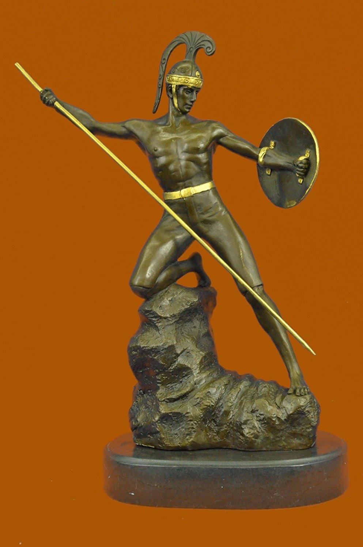 Nice Art Deco Nude Roman Warrior Made By Lost Wax Method Home Decoration Decor Figure Terrific Value Art
