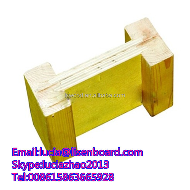 H20 beam construction pine LVL(pine lumber), formwork h20 timber beam