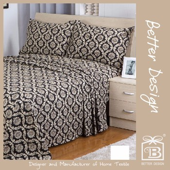 FANCY BEAUTIFUL CHEAP POPULAR PRINTING BEDSHEET SET