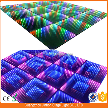 2017 new 3D mirror dance floor DMX control 3d led