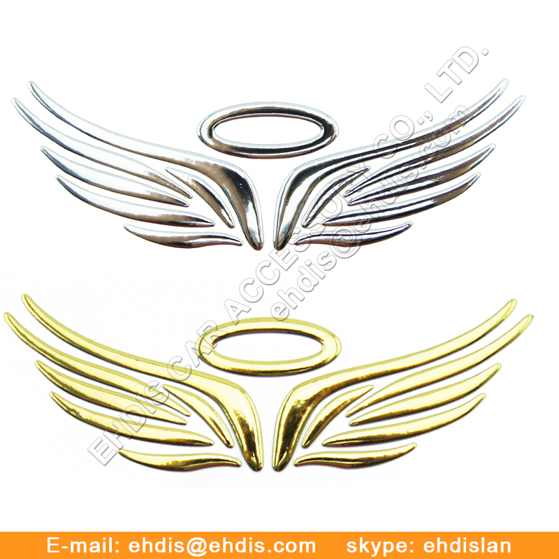 Chrome emblema 3d car stickers decals for sports cars