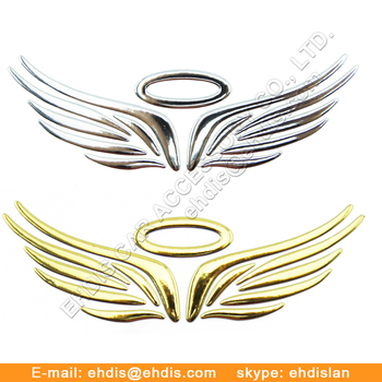 chrome 3d emblem car stickers decals for sports cars