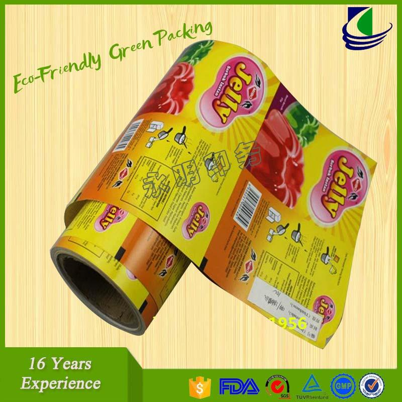 Customized plastic cup sealing film for bubble tea,jelly cup sealing roll film