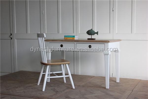 En bois meubles de salon blanc peint naturel top écriture bureau