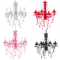Hanging Light 5 Lights Luster Crystal Chandelier Lamp Boho Chic Style home lighting NS-120135