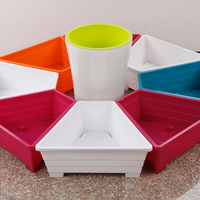 Patented Plastic Gardening Nursery Container,Innovational Trapezoidal Plastic Flower Pots or Vegetable Planters