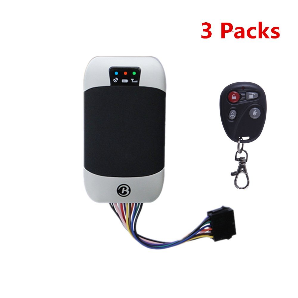 BAANOOL 3PCS Waterproof Real Time GPS Tracker Portable GPS Tracking Device Remote Control GPS Tracking Device for Car 303G