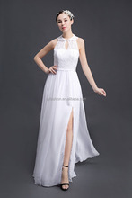 2017 Elegant Illusion floor-length lace bridesmaid dress