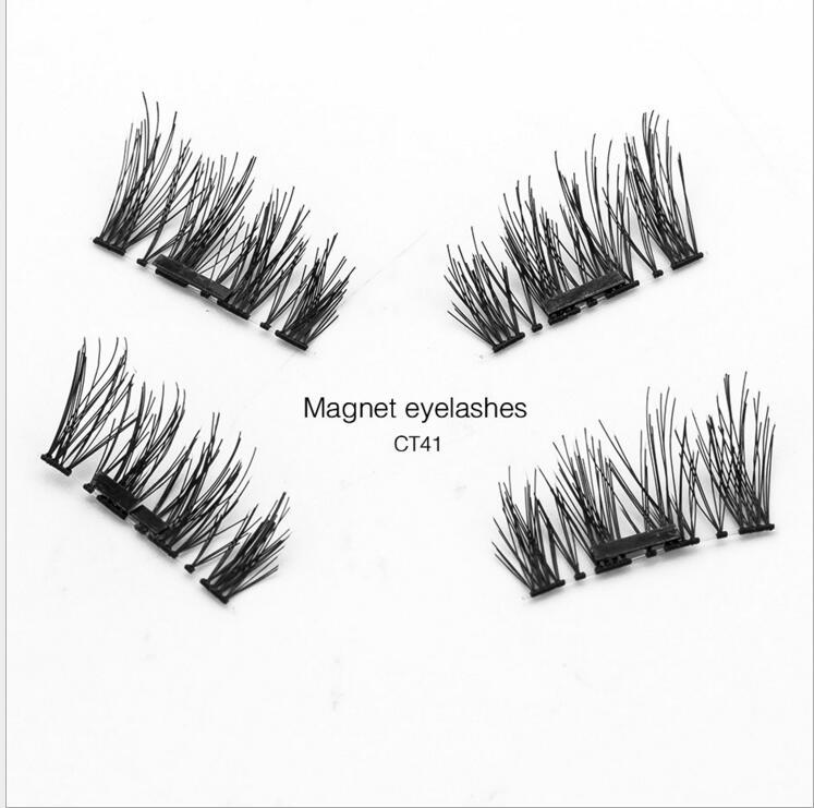 New Easy Wear 3d Magnetic Eyelash False Eyelashes Double Magnet Full