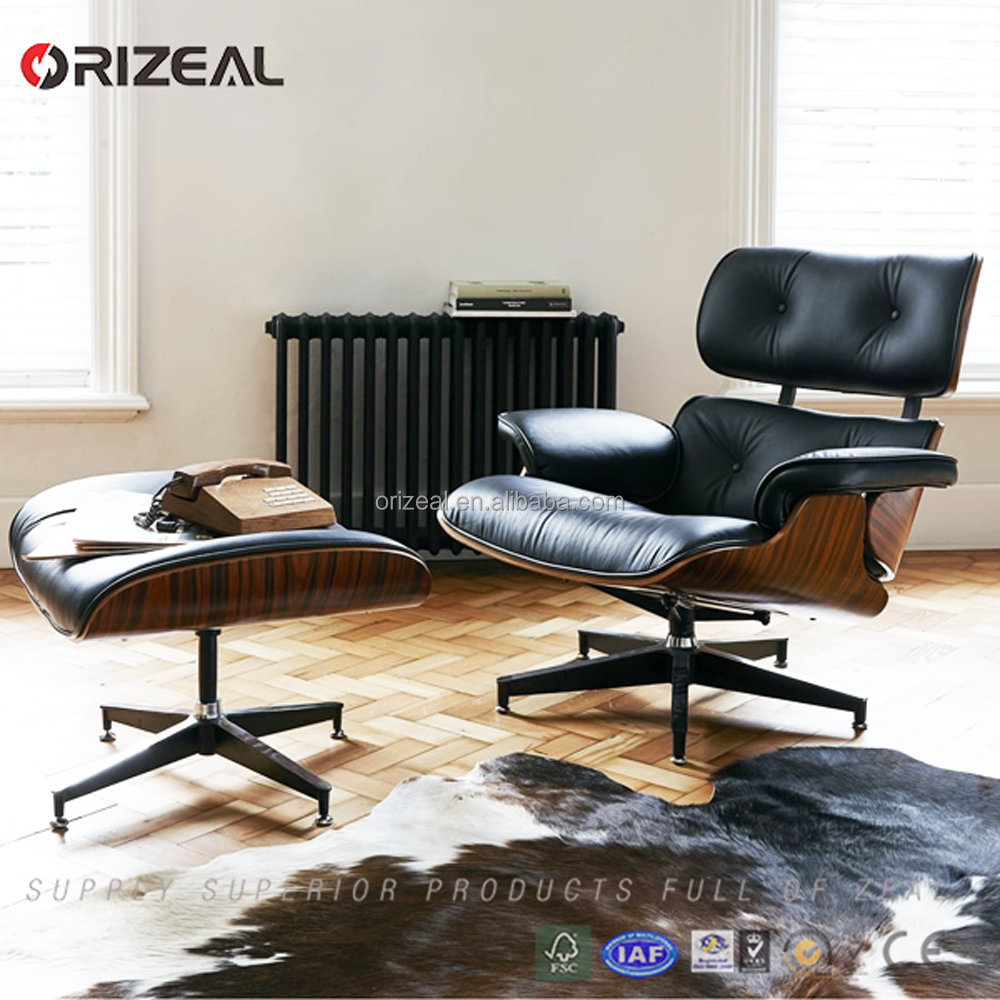 Home Office Use Brown Leather Recliner Emes Leather Lounge Chair with Ottoman Offer ends soon