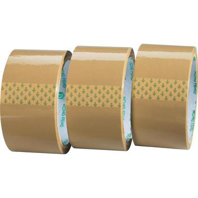 "pack tapes 2.5mil thick 6 rolls 2"" bopp material tan tape"