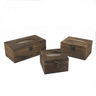 Carbonize flip type wooden tissue box antique small/medium/large custom tissue paper storage box with lock for cheap sale
