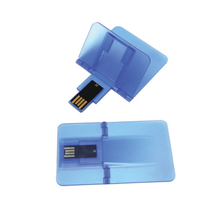 OEM Pendrive Transparent Credit Card 4GB Usb Flash Drive with Custom Logo