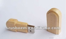 high quality promotional gifts wooden swivel usb