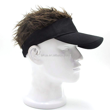 christmas halloween funny novelty adjustable baseball golf hats with wig hair