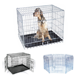 Manufacturer wholesale stainless steel metal large small foldable carriers cheap pet dog cage