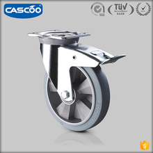 CASCOO Factory wholesale 8 Inch heavy duty swivel caster with brake