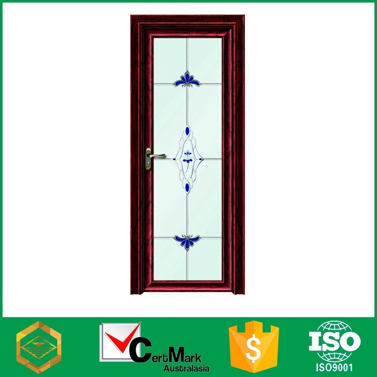 Aluminum Frame Cheap Hollow Core Arch Top Interior Door Factory