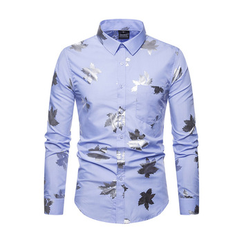 Nice hand feel online sale stylish soft foil high quality hawaii men shirt