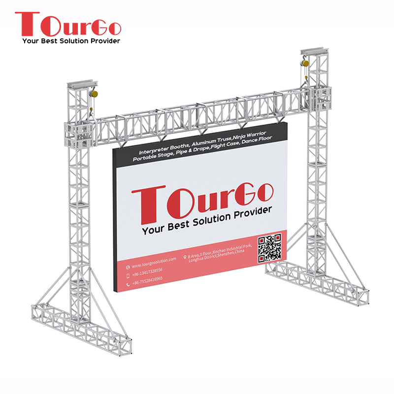 TourGo Aluminum Goal Post LED Screen Truss