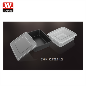 Clear Pp Plastic Reusable Thin Wall Container Thin Plastic Storage