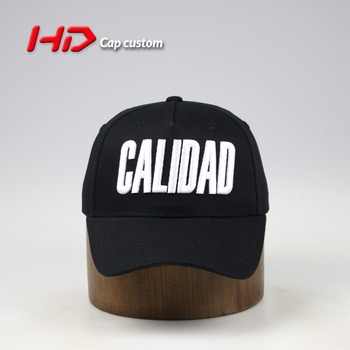 12c7daf5c47 100% Cotton Twill Structured White 3d Embroidery Black Baseball Cap ...