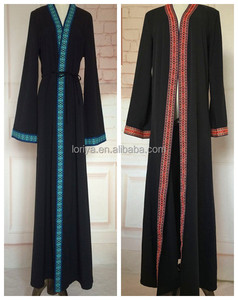 Hot sale latest abaya new models dubai women wholesale malaysia open abaya