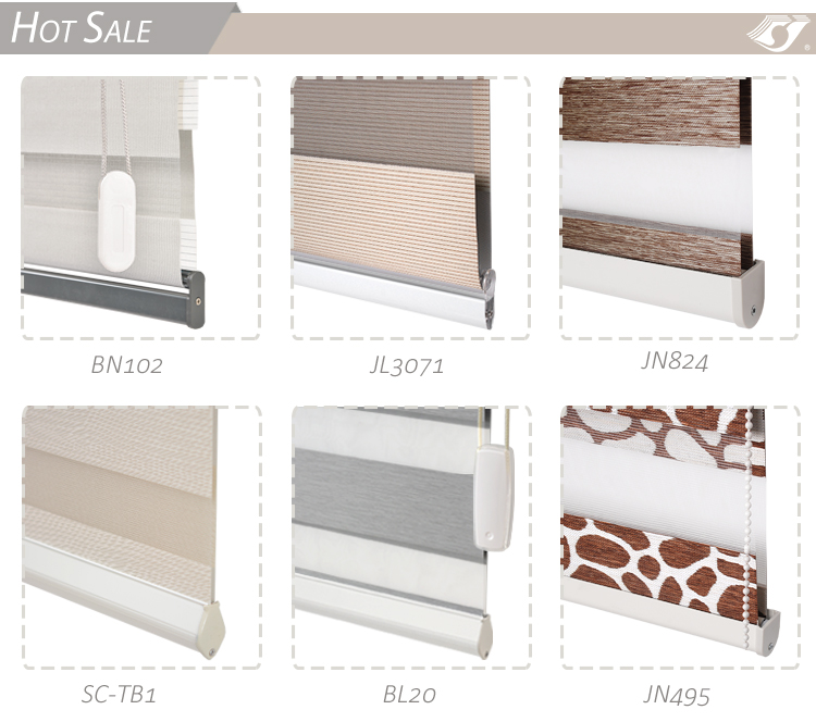 Stardeco high quality customize window roller blind zebra simple two layer window shade wholesale supplier price
