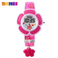 Fun pattern pu strap flower design kid watch for girl digital cheap price wholesale new item #1144