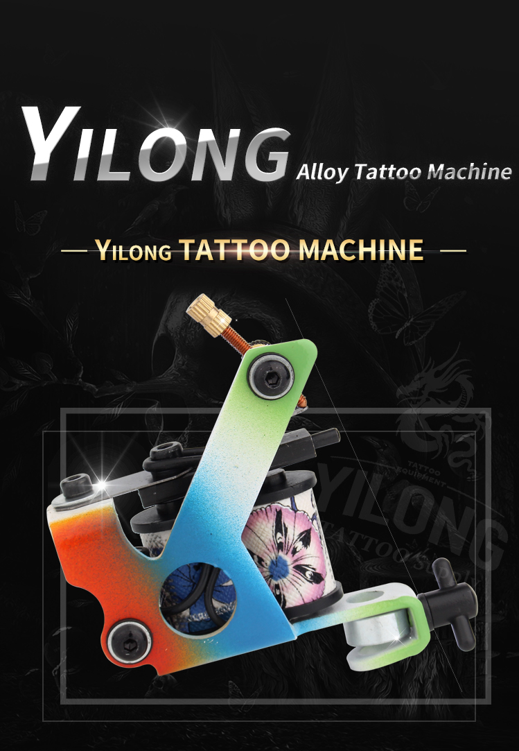 Yilong Colorful Tattoo Coil Machines Coils Tattoo Making Machines