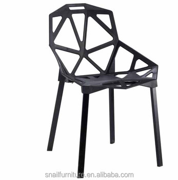 Delicieux Minimalist Geometric Italian Style Cafe Chairs Outdoor Furniture Plastic  Chair