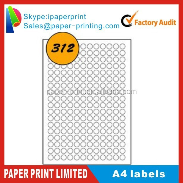 blank self adhesive a4 CD labels paper