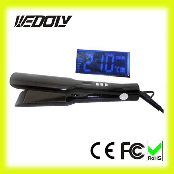 Professional LCD display ion hair straightener lcd made in korea