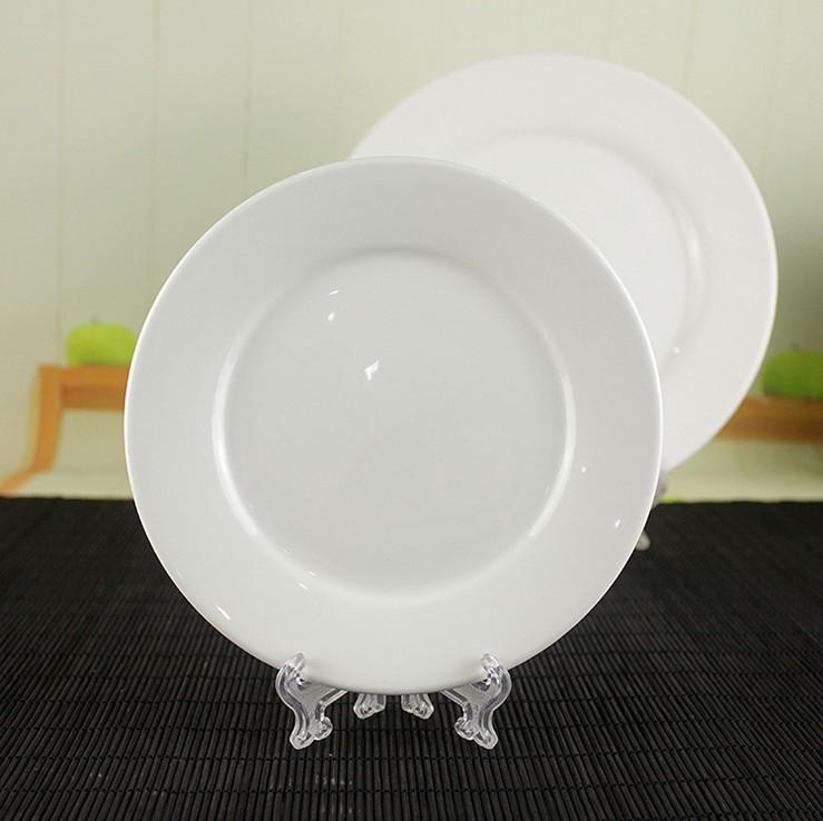 wholesale cheap white porcelain ceramic dinner plate Blank Ceramic Plate wholesale