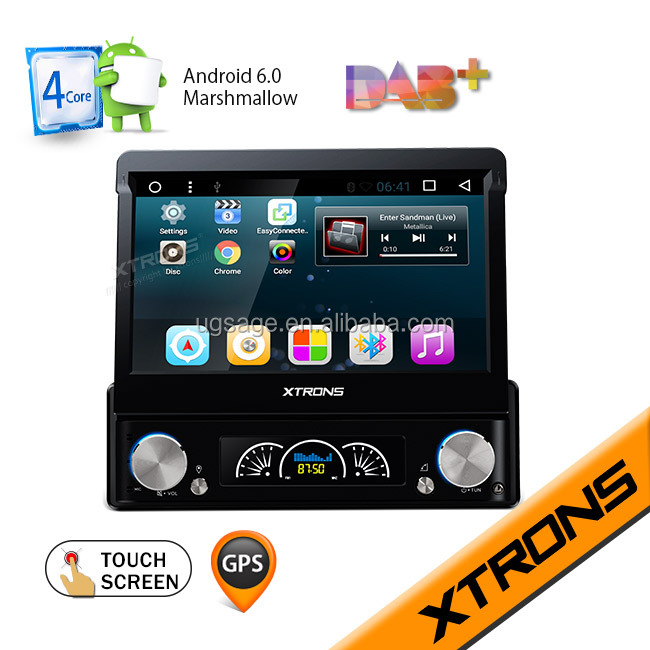"Xtrons D719A 7"" Android car radio 1 din android car dvd with Detachable panel"