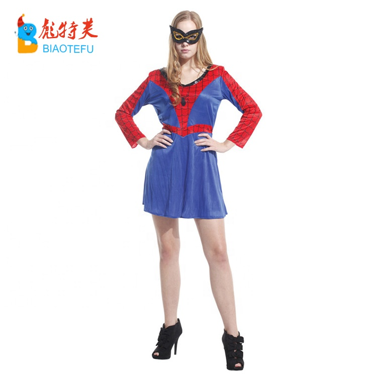 super woman spiderman cosplay fancy dress costume
