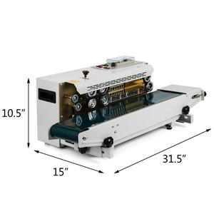 Automatic Horizontal Continuous Plastic Bag Band Sealing Machine Sealer Fr900