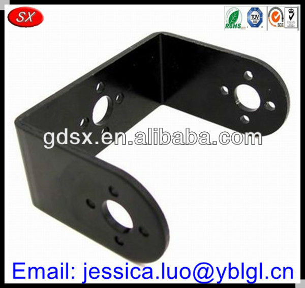 Dongguan Factory Price Precision Black Anodized Aluminum Bending U ...