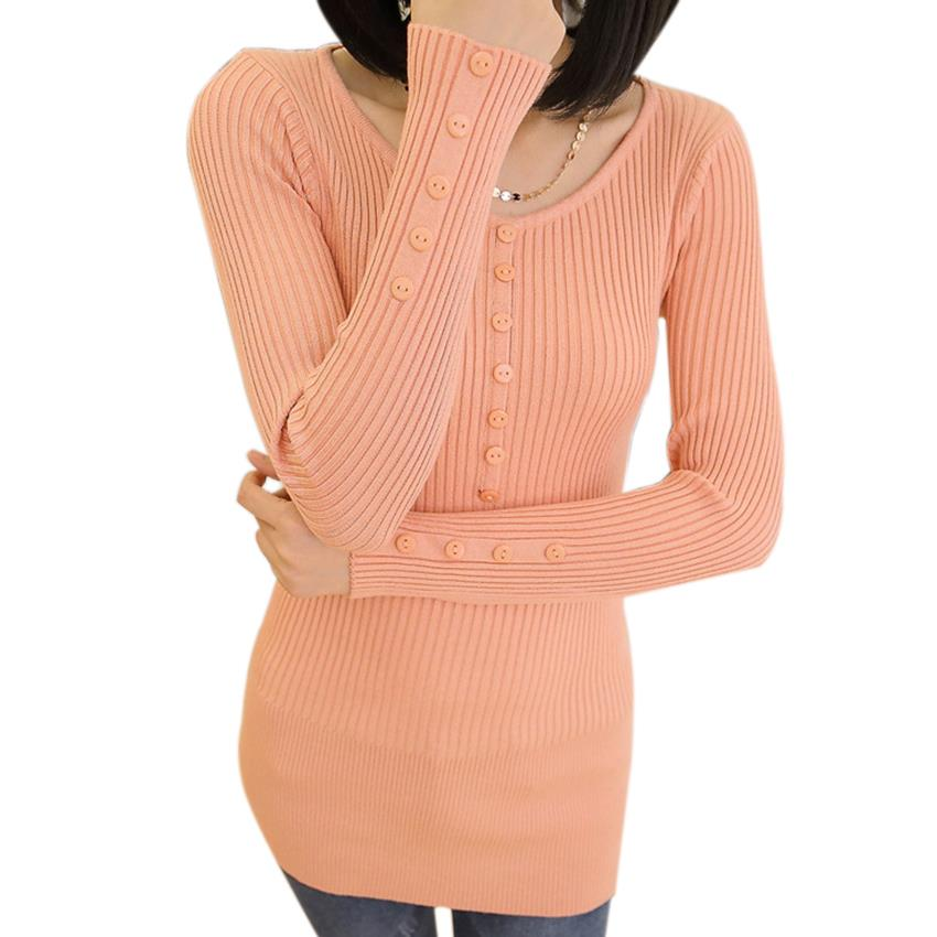 5aa7562506 Get Quotations · Solid Button Winter Long Knitted Slim Sweater Dress Womens  Sweaters And Pullovers Fashion 2015 Autumn Ladies