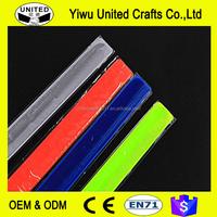 CE EN 13356 reflective slap band ,reflective armband,customized printing logo reflective wrist band