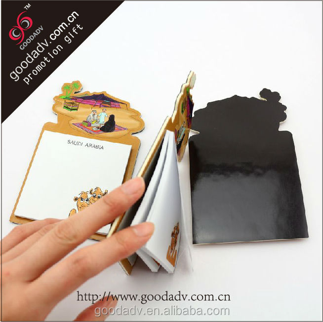 Made in China Populaire koelkastmagneet notepad custom memo pad met notitie