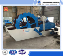 XS sand washing and dewatering machine, industrial sand cleaning machine, wheel-type sand washing equipment