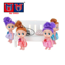 wholesale popular cute plastic toys mini baby dolls with pendant