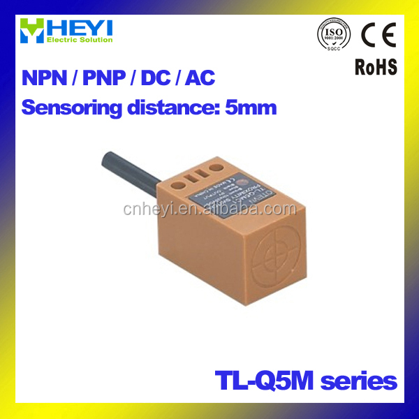 2/3/4 wire NO / NC / NO+NC Square type inductive proximity sensor TL-Q5M 5m IP67