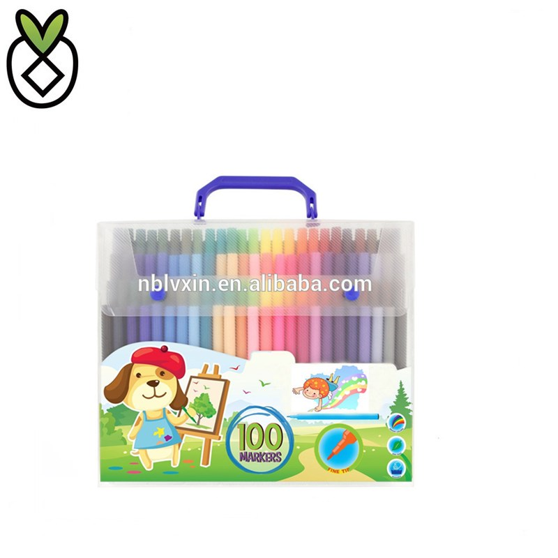 Fine Tip Markers with Vibrant and Bold Colors Washable Marker Set